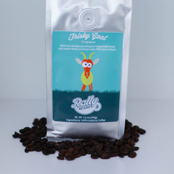 Rally Beans' Frisky Goat is a wild and unbalanced bean from the Yirgacheffe region of Ethiopia.