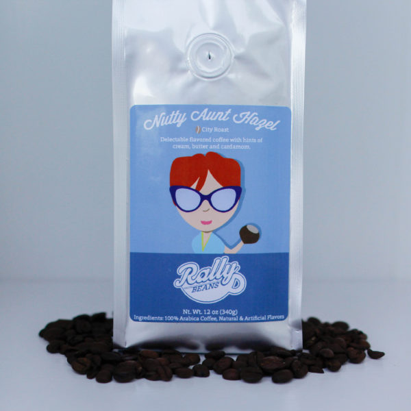 Rally Beans' Nutty Aunt Hazel is a delectable hazlenut coffee.