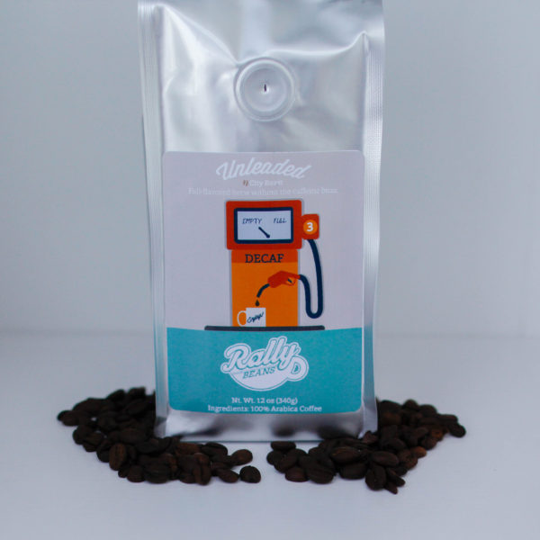 Rally Beans' Unleaded is a full-flavored brew without the caffeine buzz.