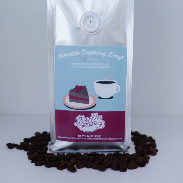 Rally Beans' Chocolate Raspberry Decaf is downright decadent.