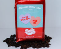 Rally Beans Chocolate Cherry Kiss is a a lovely brew, flavored with dark chocolate and a sweet kiss of cherries!